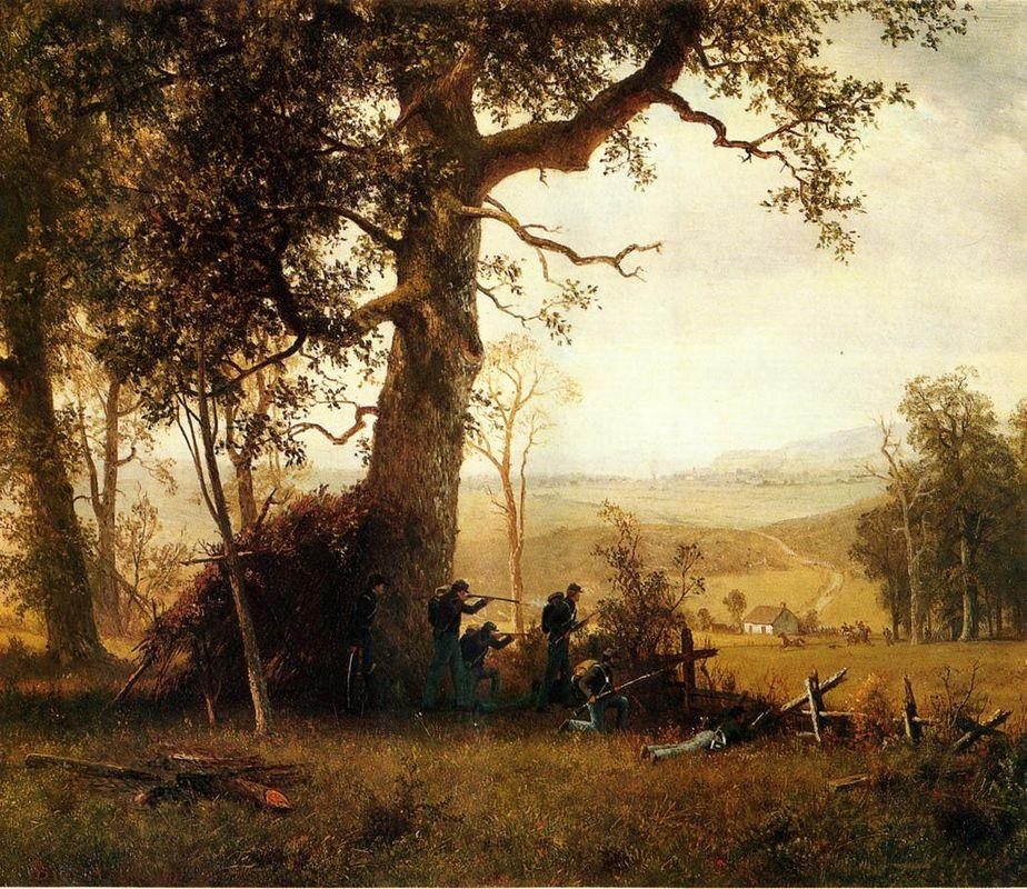 Guerrilla Warfare. Picket Duty in Virginia - Albert Bierstadt