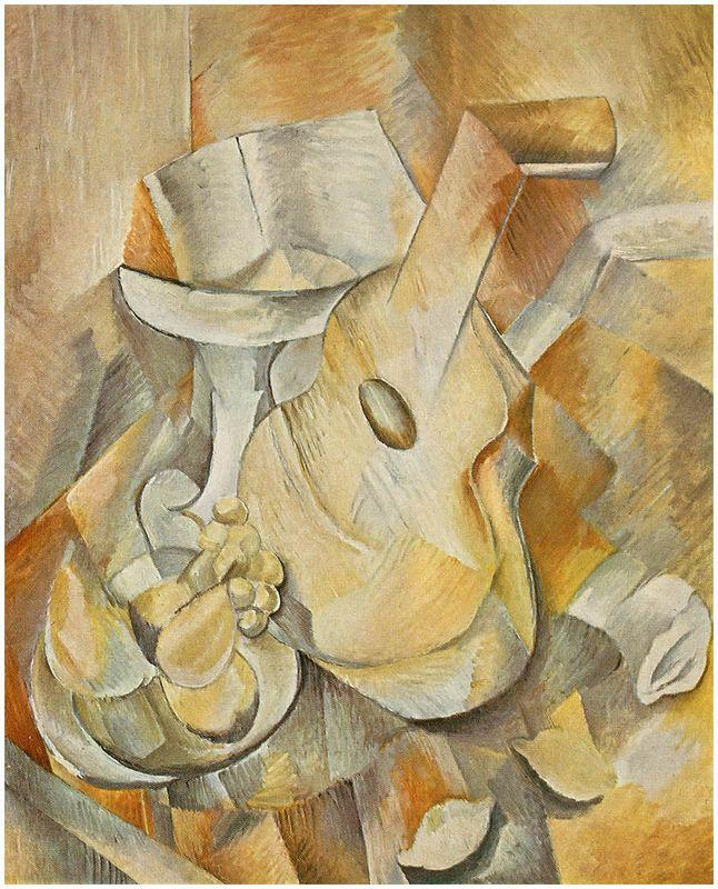 Guitar and Fruit Dish - Georges Braque