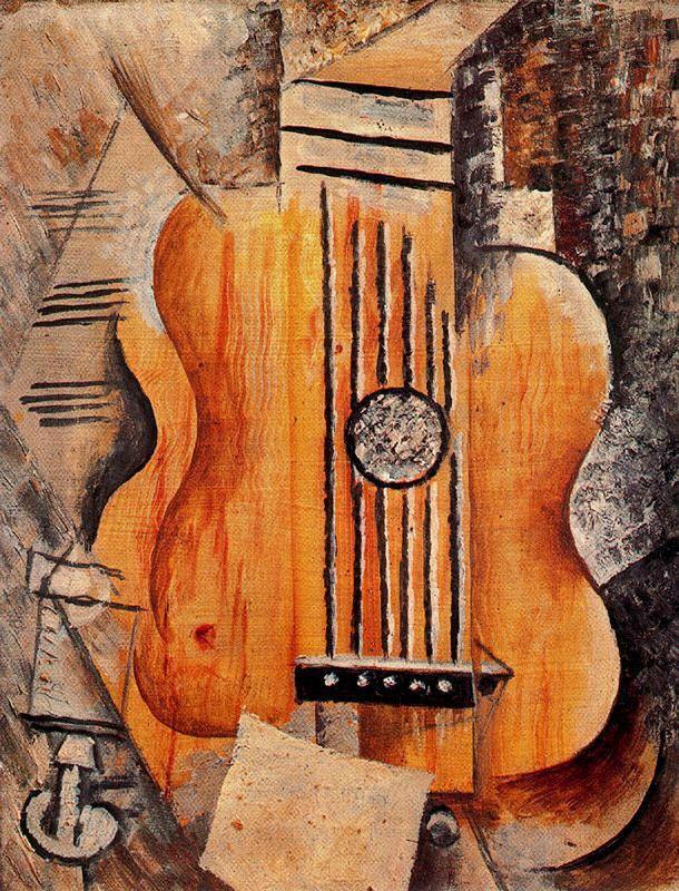 Guitar (I love Eva) - Pablo Picasso