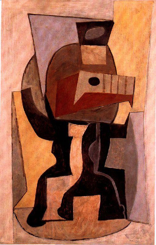 Guitar on pedestal - Pablo Picasso