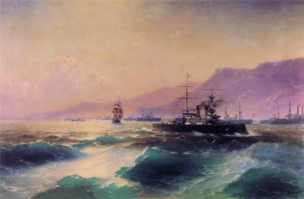 Gunboat off Crete - Ivan Aivazovsky