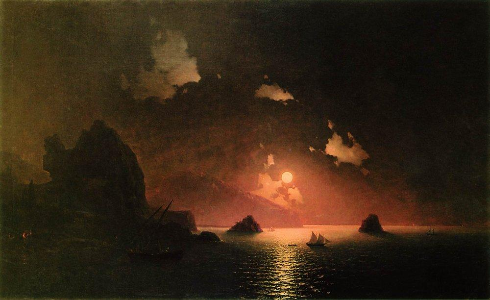Gurzuf night  - Ivan Aivazovsky