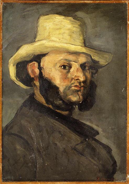 Gustave Boyer in a Straw Hat - Paul Cezanne