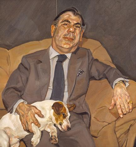 Guy and Speck - Lucian Freud