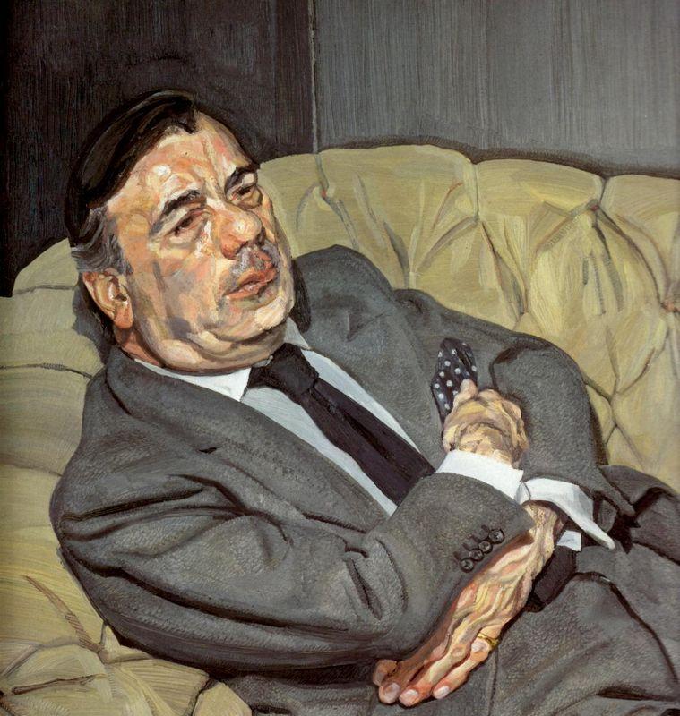Guy Half Asleep - Lucian Freud