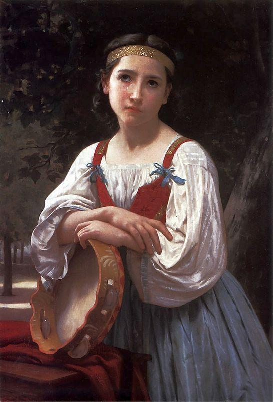 Gypsy Girl with a Basque Drum - William-Adolphe Bouguereau