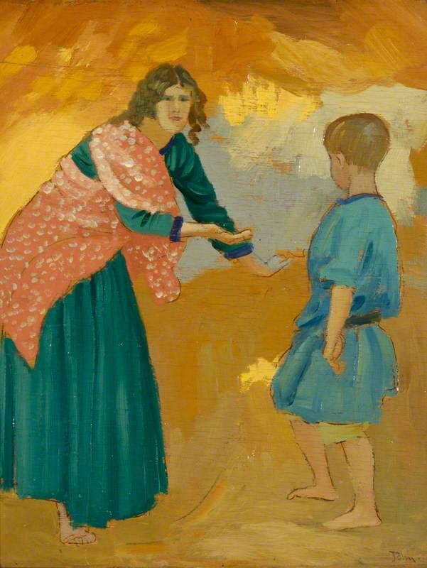 Gypsy in the Sandpit - Augustus John