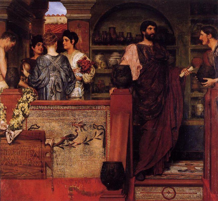 Hadrian Visiting a Romano British Pottery - Sir Lawrence Alma-Tadema