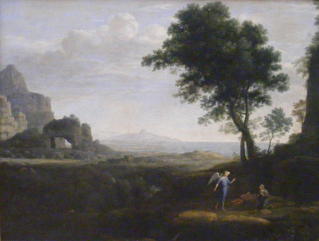 Hagar and Ismael in the desert - Claude Lorrain