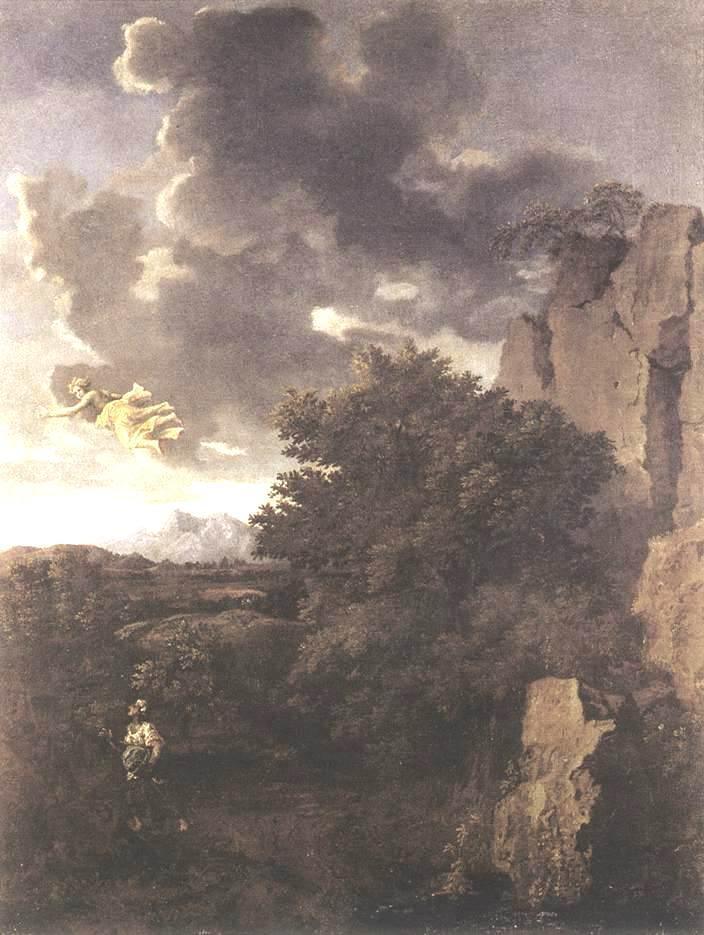 Hagar and the Angel - Nicolas Poussin