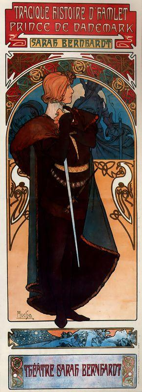 Hamlet - Alphonse Mucha