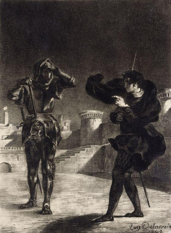 Hamlet Sees the Ghost of his Father - Eugene Delacroix