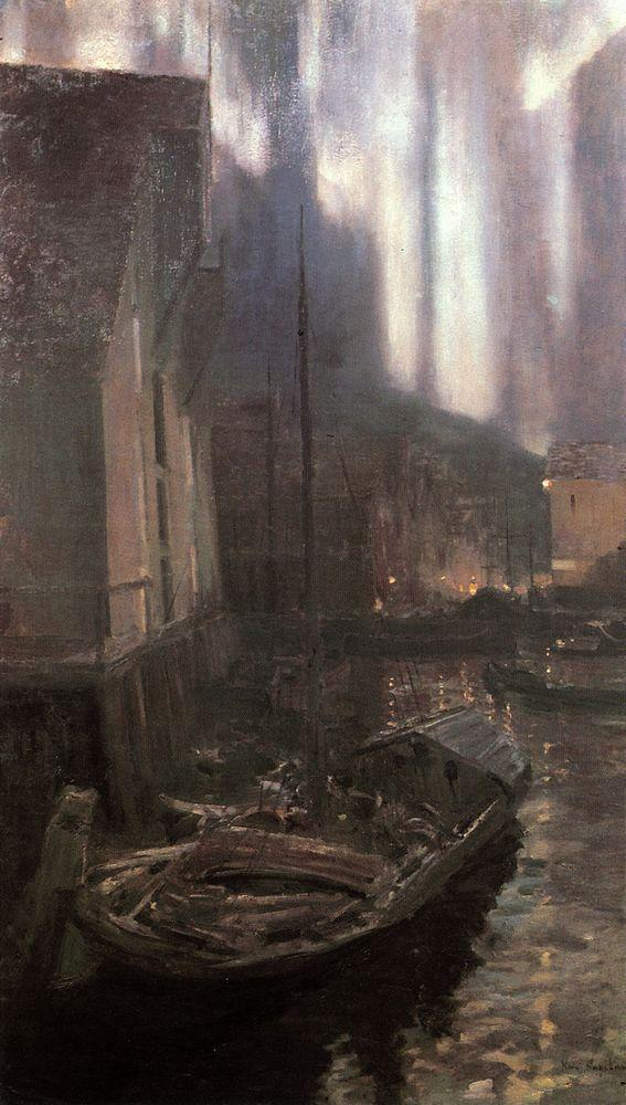Hammerfest. The Nothern Lights - Konstantin Korovin
