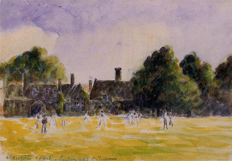 Hampton Court Green - Camille Pissarro