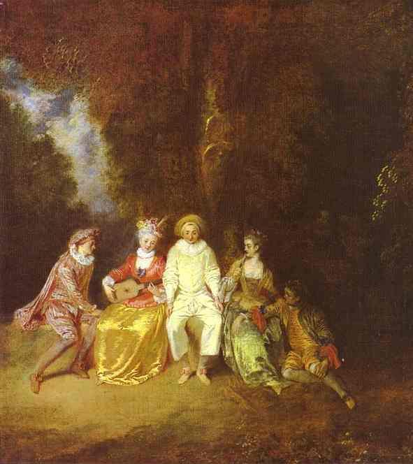Happy Pierrot - Antoine Watteau