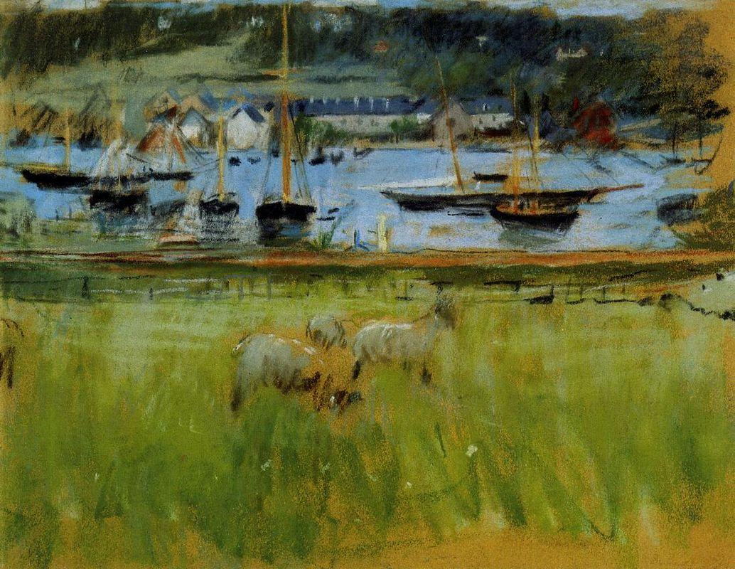 Harbor in the Port of Fecamp - Berthe Morisot