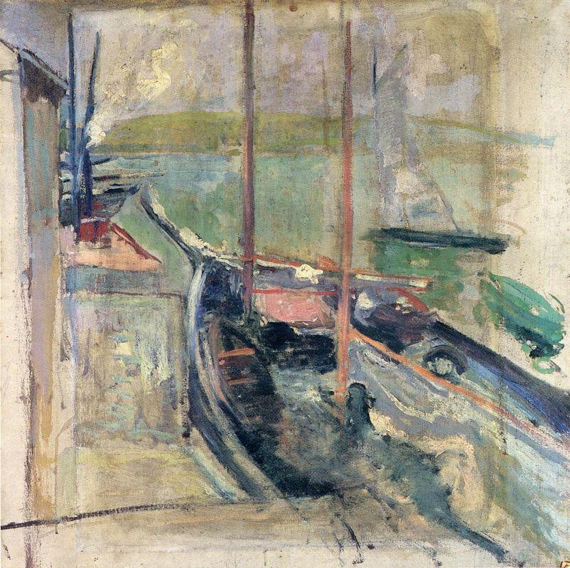 Harbor Scene - Albert Bierstadt