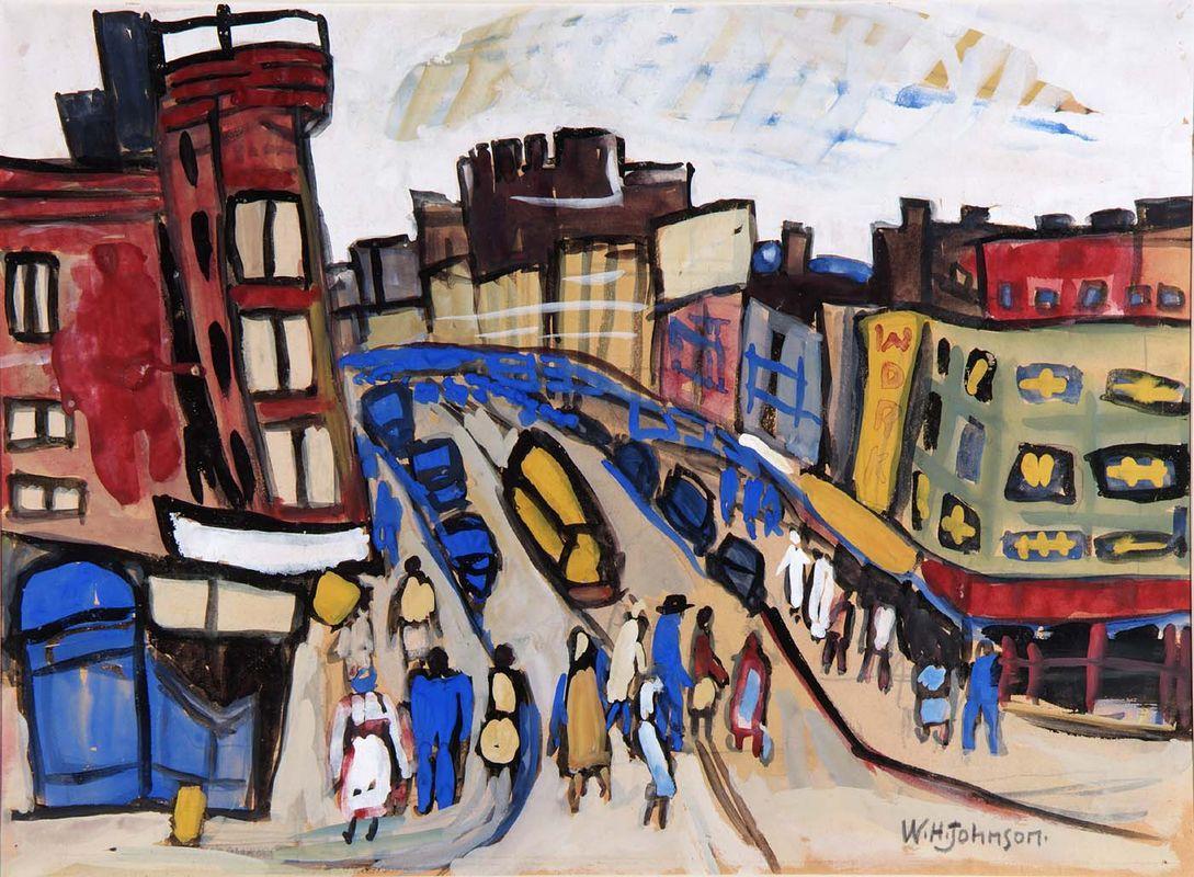 Harlem Street - William H. Johnson