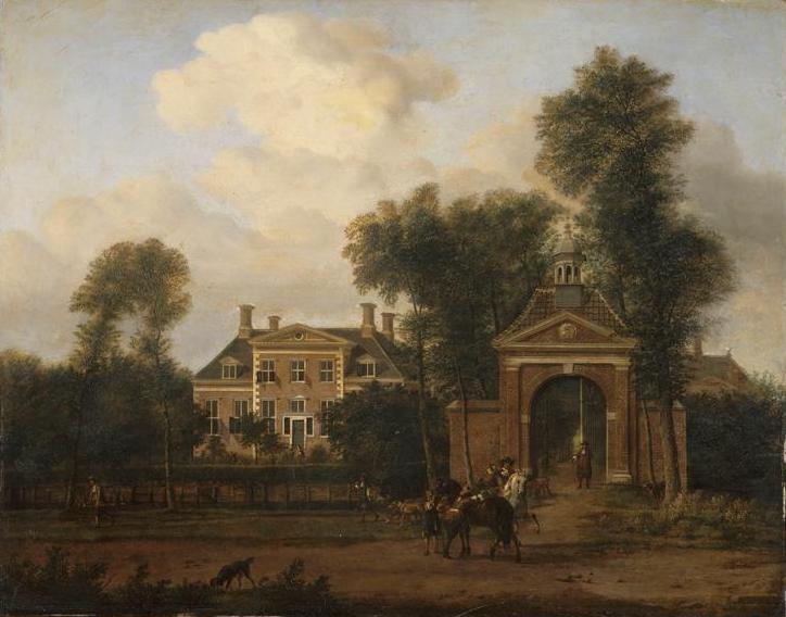 Harteveld house on the Vecht in Utrecht - Adriaen van de Velde