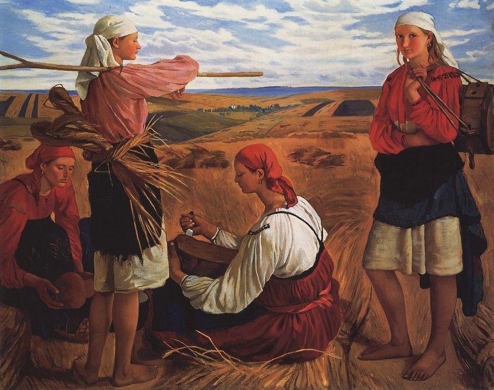 Harvesting - Zinaida Serebriakova