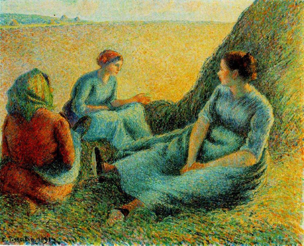 Haymakers Resting - Camille Pissarro