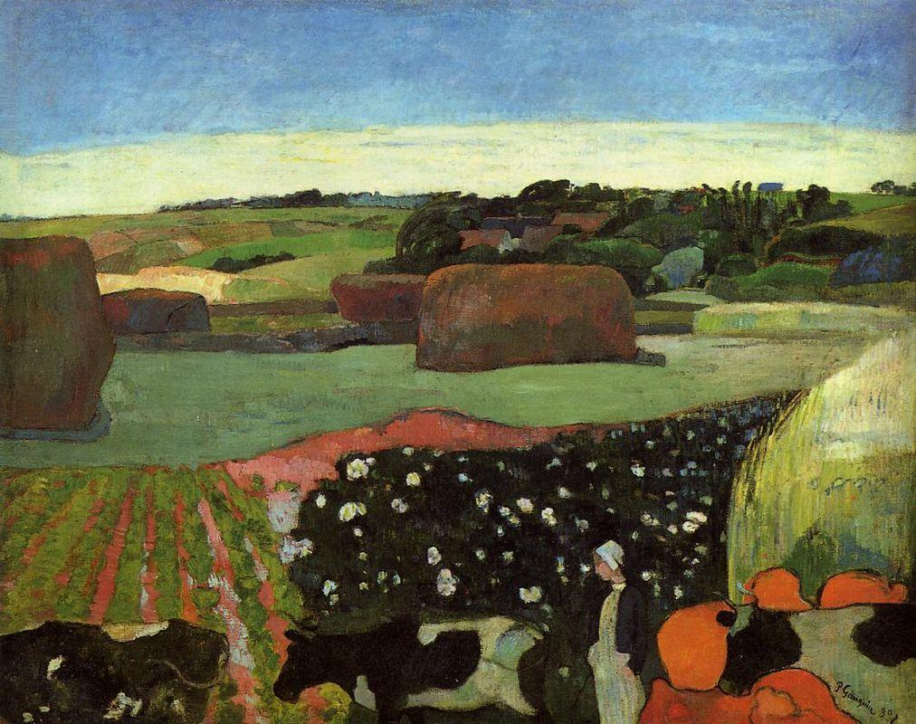 Haystacks in Brittany - Paul Gauguin