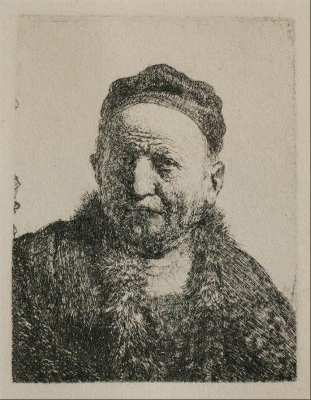 Head and Bust, Full Face - Rembrandt