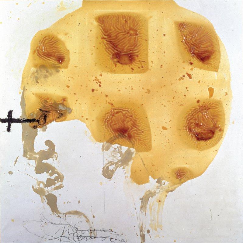 Head and varnish  - Antoni Tapies