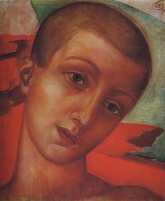 Head of a boy  - Kuzma Petrov-Vodkin