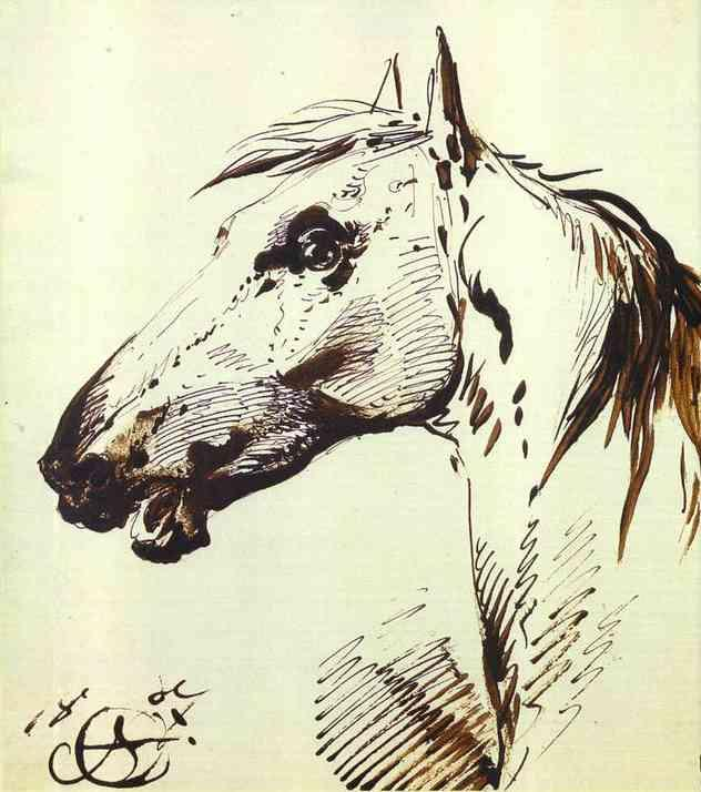 Head of a Horse - Alexander Orlowski