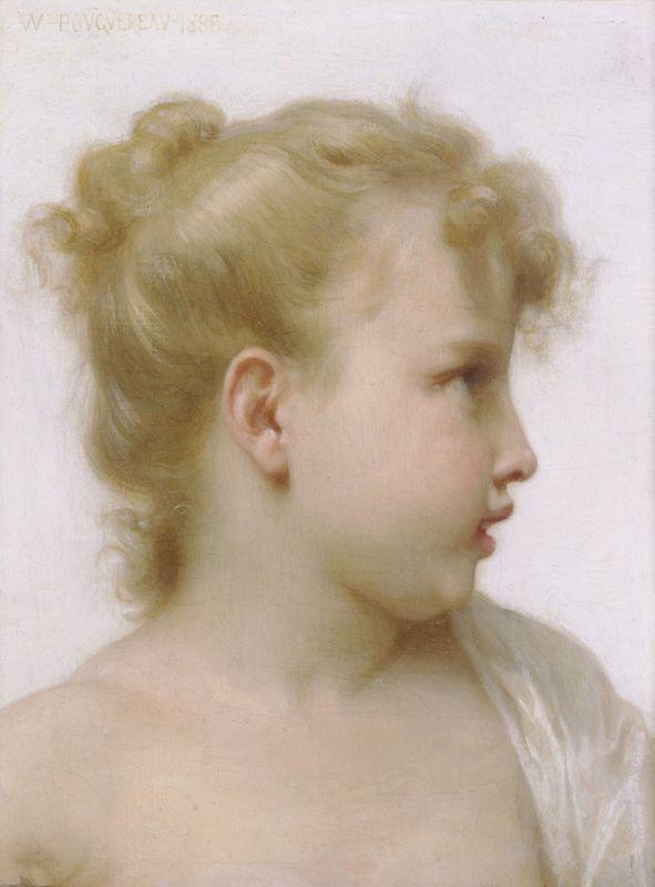 Head Of A Little Girl - William-Adolphe Bouguereau