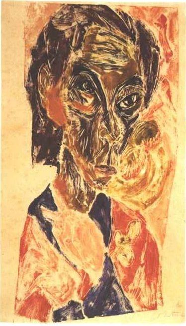Head of a Sick Man - Ernst Ludwig Kirchner