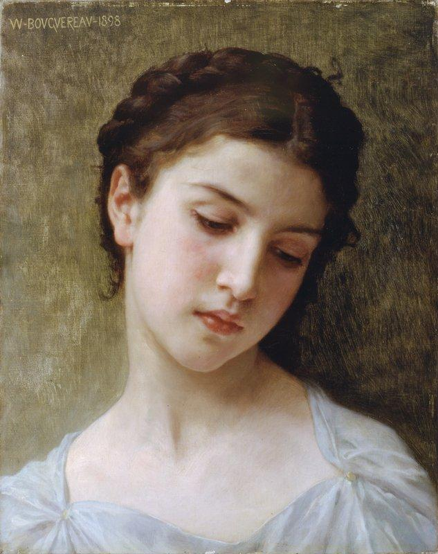 Head Of A Young Girl - William-Adolphe Bouguereau