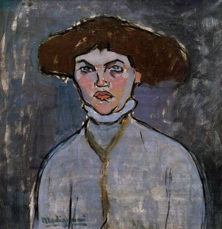 Head of a Young Woman - Amedeo Modigliani