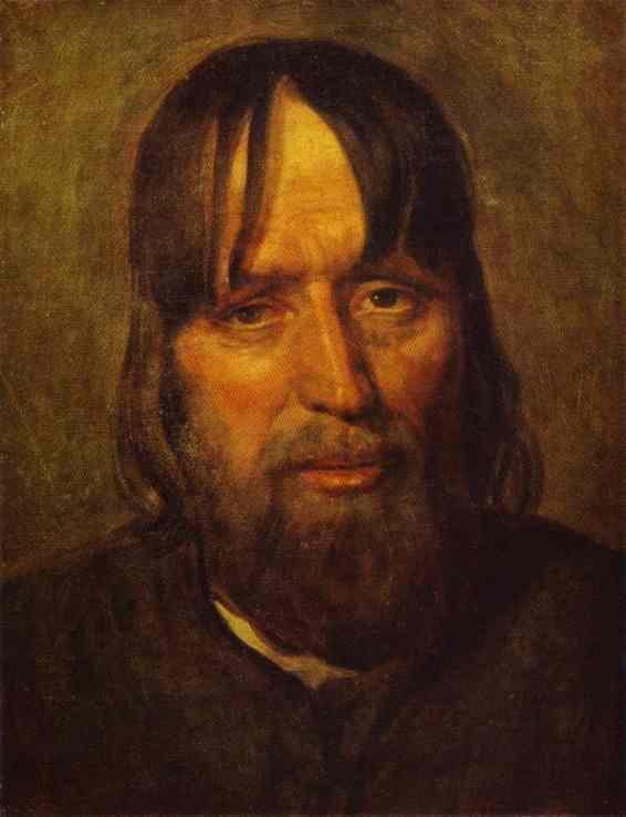 Head of an Old Peasant - Alexey Venetsianov