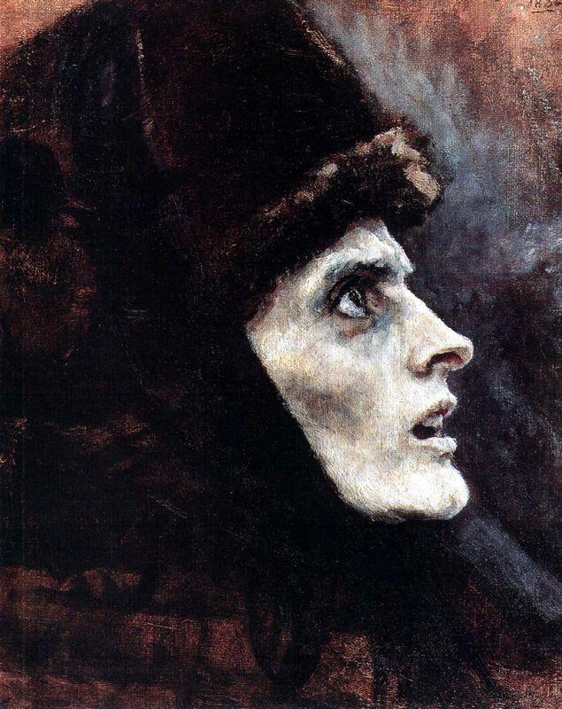 Head of Boyarynya Morozova (study) - Vasily Surikov