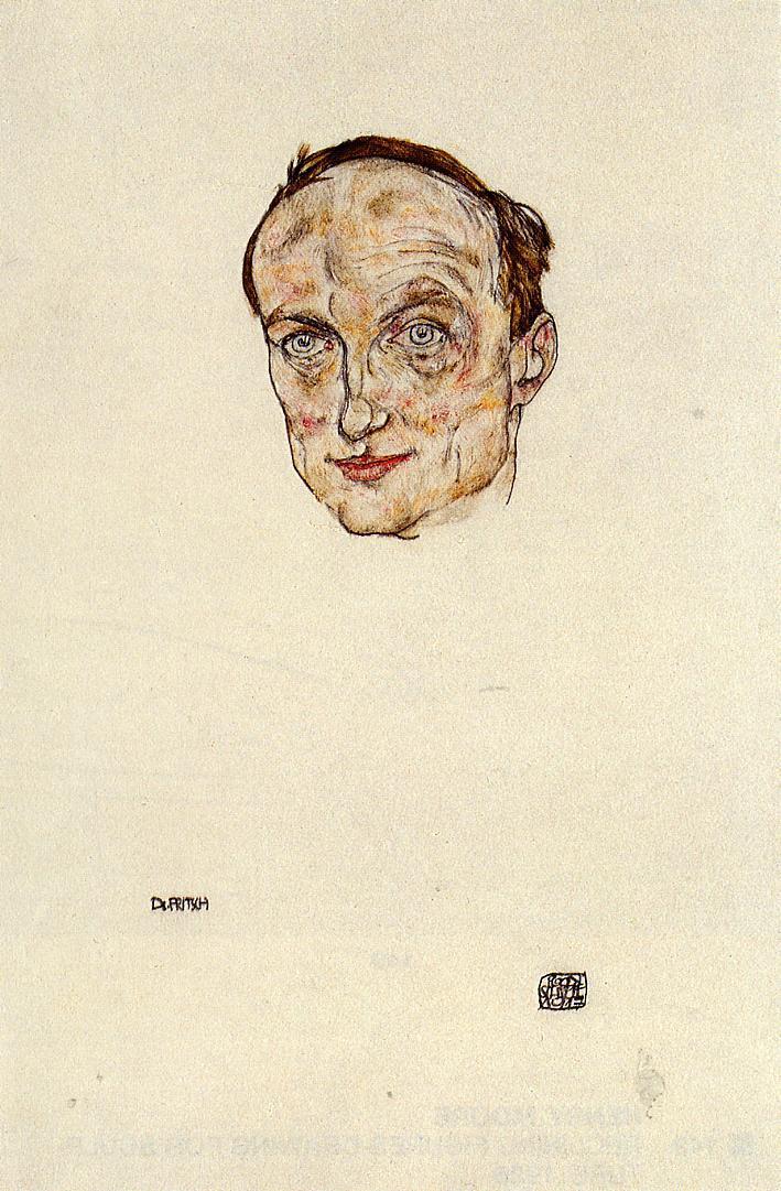 Head of Dr. Fritsch - Egon Schiele