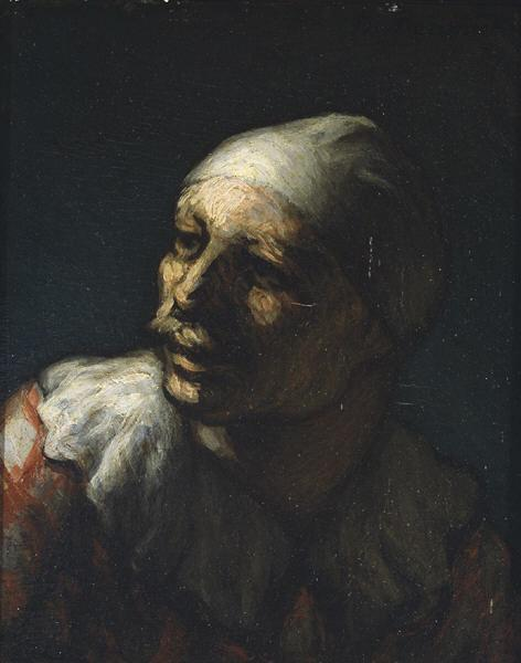 Head of Pasquin - Honore Daumier
