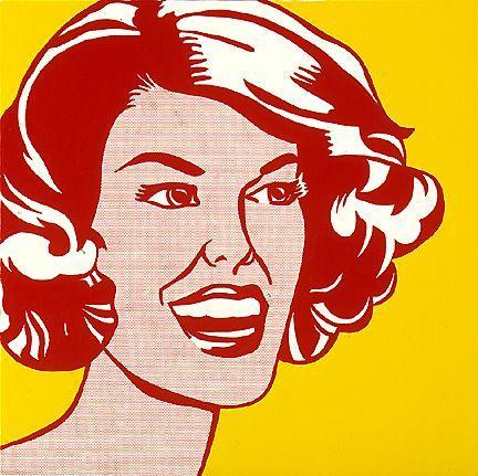 Head - red and yellow - Roy Lichtenstein