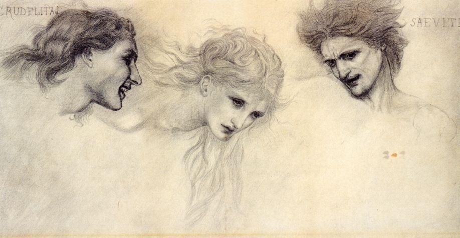 Head Study for The Masque of Cupid  - Edward Burne-Jones