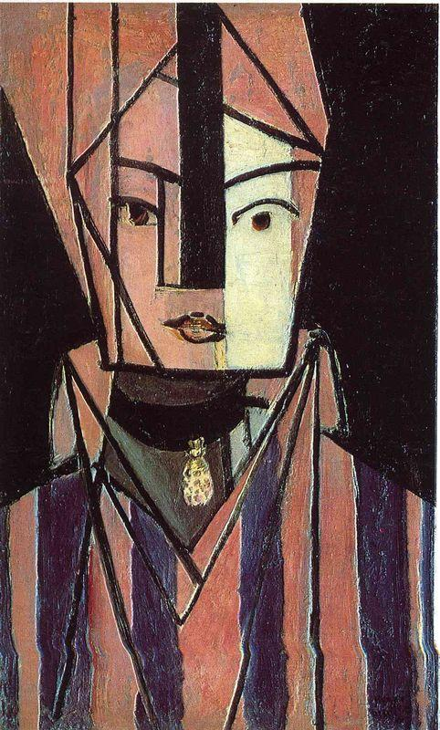 Head white and pink - Henri Matisse