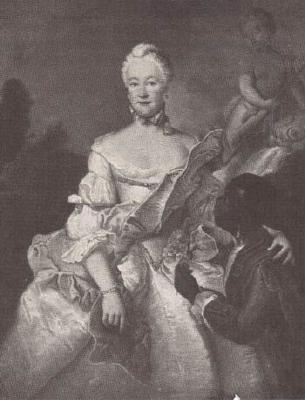 Henriette Karoline von Pfalz Zweibrucken, Landgrave of Hesse Darmstadt, with the Moor - Antoine Pesne