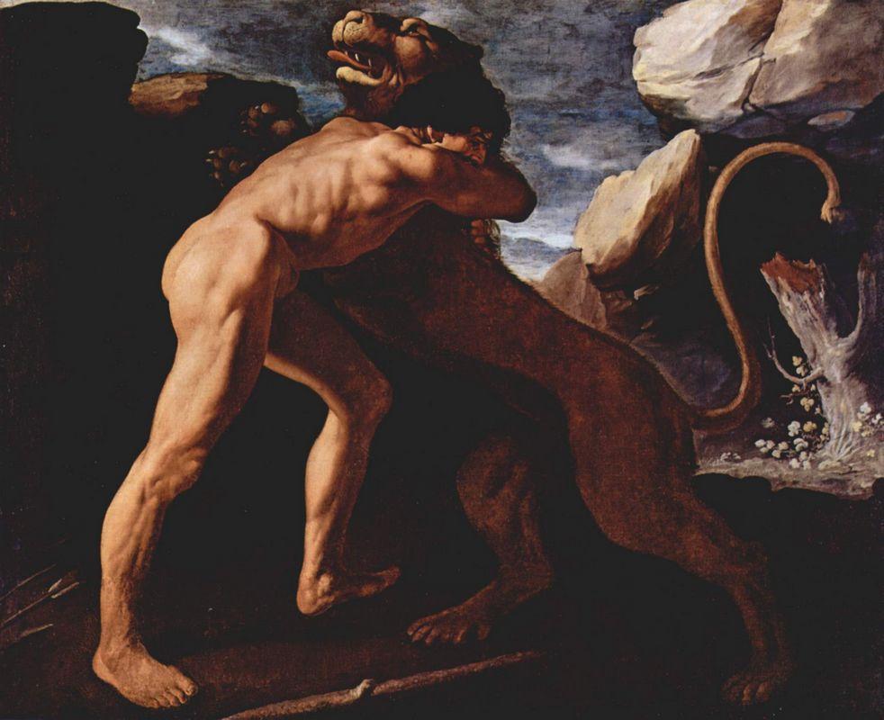 Hercules Fighting with the Nemean Lion  - Francisco de Zurbaran
