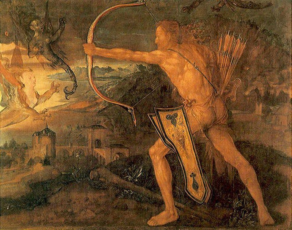 Hercules kills the Symphalic Bird - Albrecht Durer