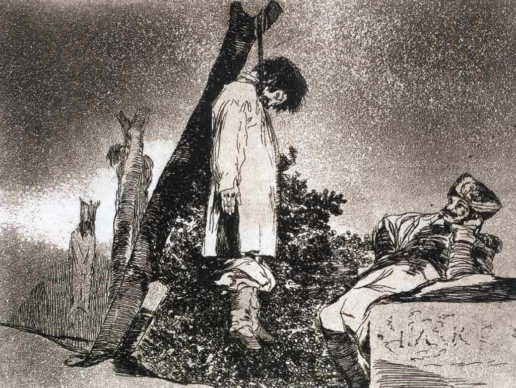 Here neither - Francisco Goya