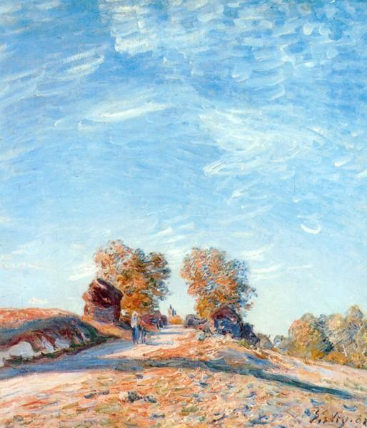 Hill Path in Sunlight - Alfred Sisley