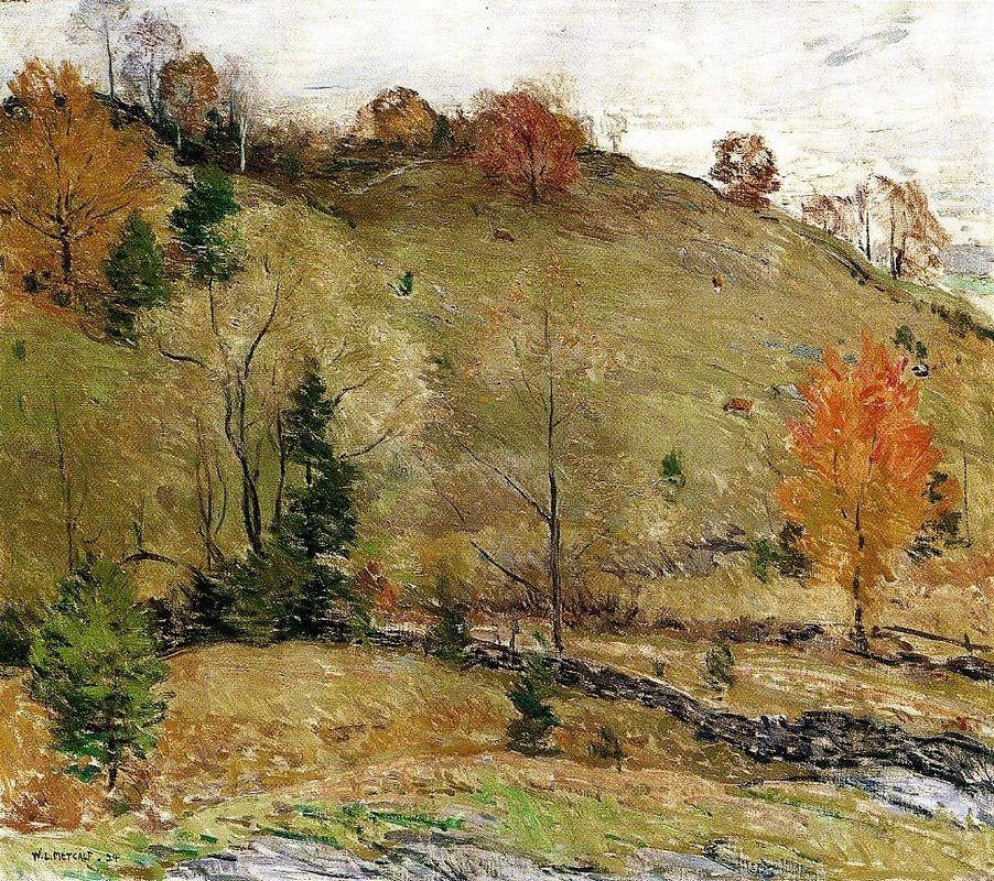 Hillside Pasture - Willard Metcalf