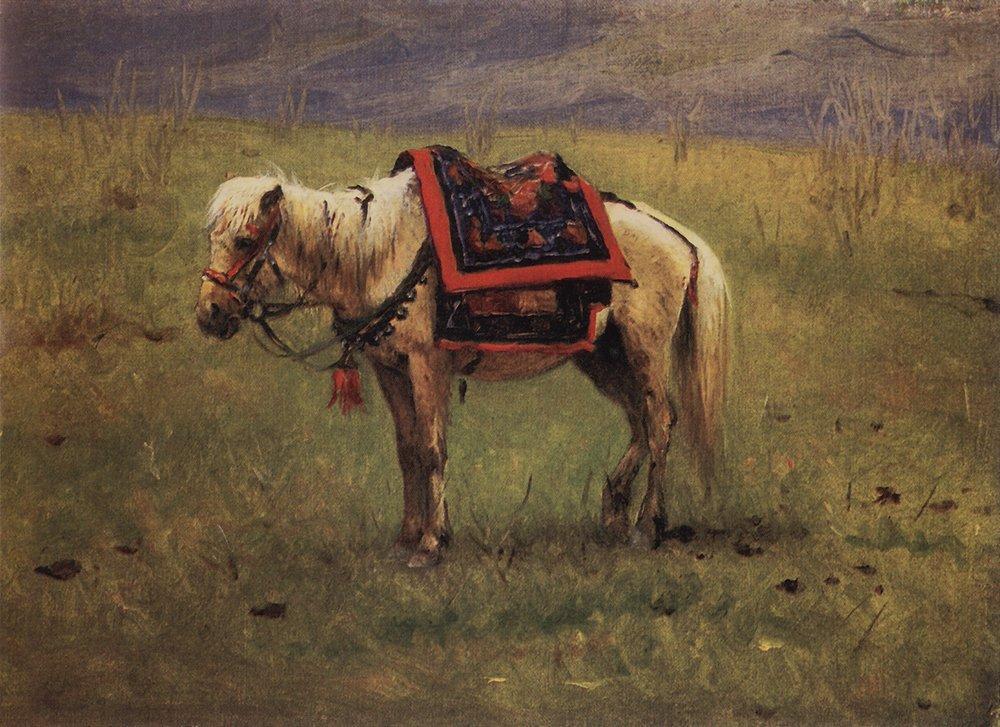 Himalayan ponies - Vasily Vereshchagin