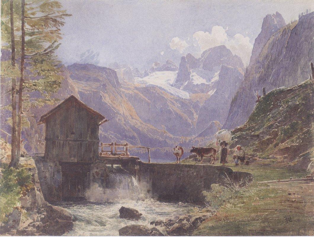 Hoher Dachstein from Lower Gosau - Rudolf von Alt
