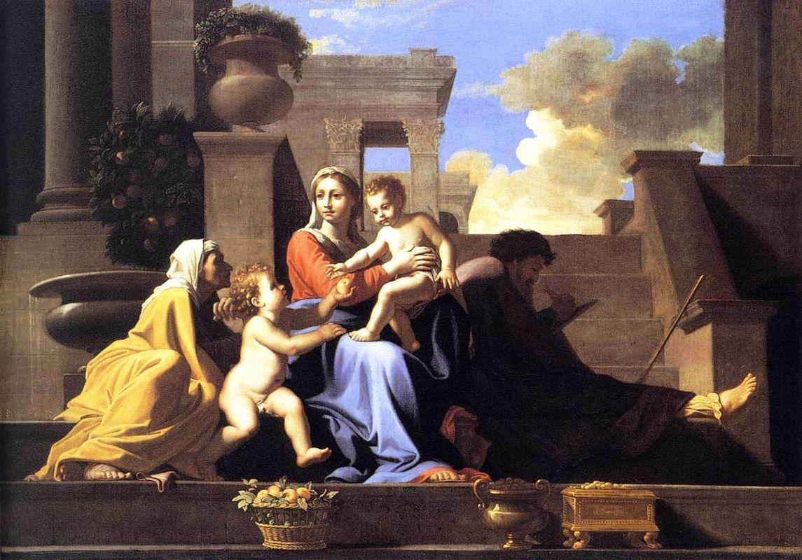 Holy Family on the Steps - Nicolas Poussin